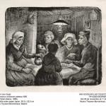 Campesinos comiendo patatas