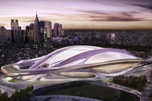 Zaha Hadid-designed Olympic Stadium for Tokyo 2020