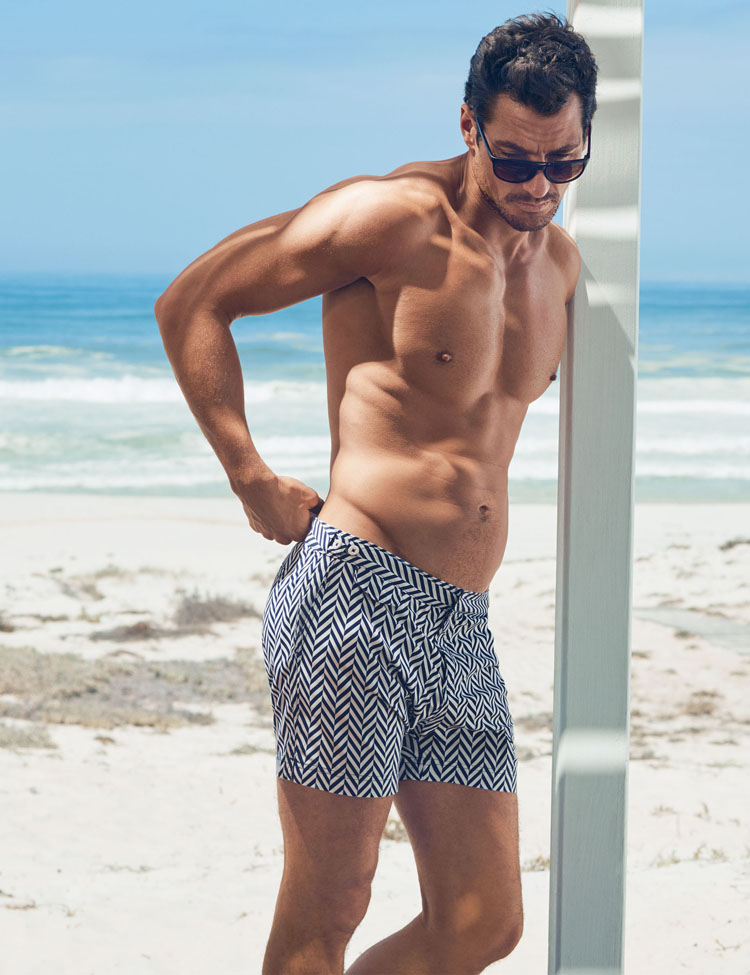 David Gandy for Autograph Herringbone Tailored Fit Mid Length Quick Dry Swim Shorts -ú29.50
