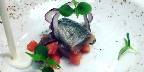 ajoblanco con tartar de sardinas