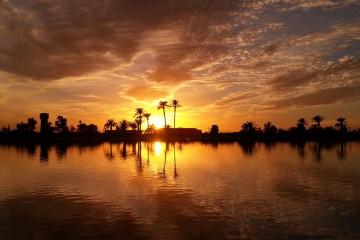 puesta de sol marrakech