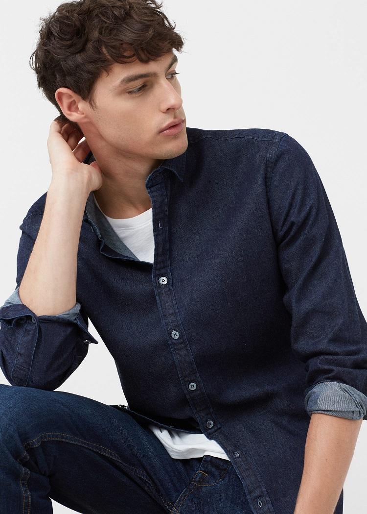 camisa-azul-indigo-mango-man-lowcost-madmenmag