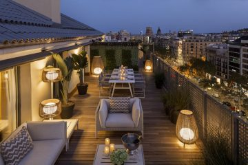 Majestic Royal Penthouse terrace Paseo de Gracia By Night