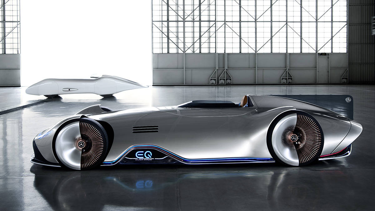 Mercedes EQ Silver Arrow pebble beach madmenmag