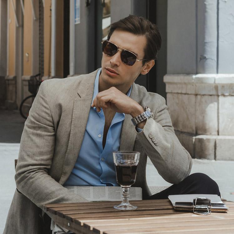 gafas de sol clásicas para hombre