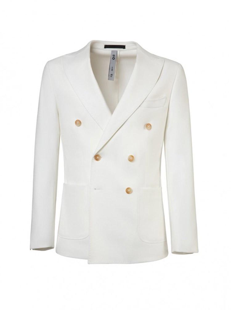 tendencias de moda masculina en los años 50 americana-cruzada-doble-abotonadura-en-color-blanco