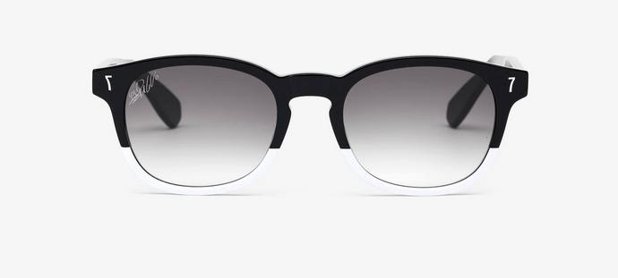 cr7 eyewear gafas de sol de acetato negro y blanco gafas de sol bicolor