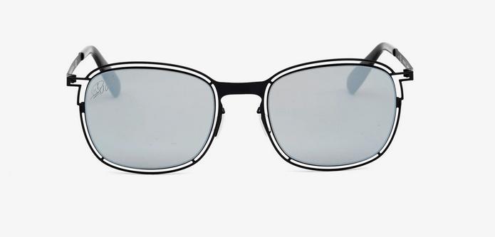 gafas de sol con montura metalica negra de cristiano ronaldo