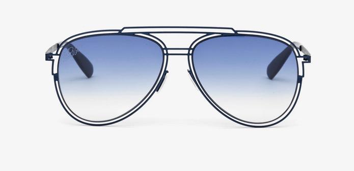 gafas de sol cristiano ronaldo montura metalica azul