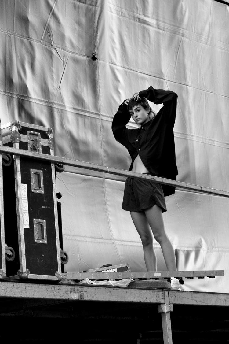 natalia lacunza antes de un concierto
