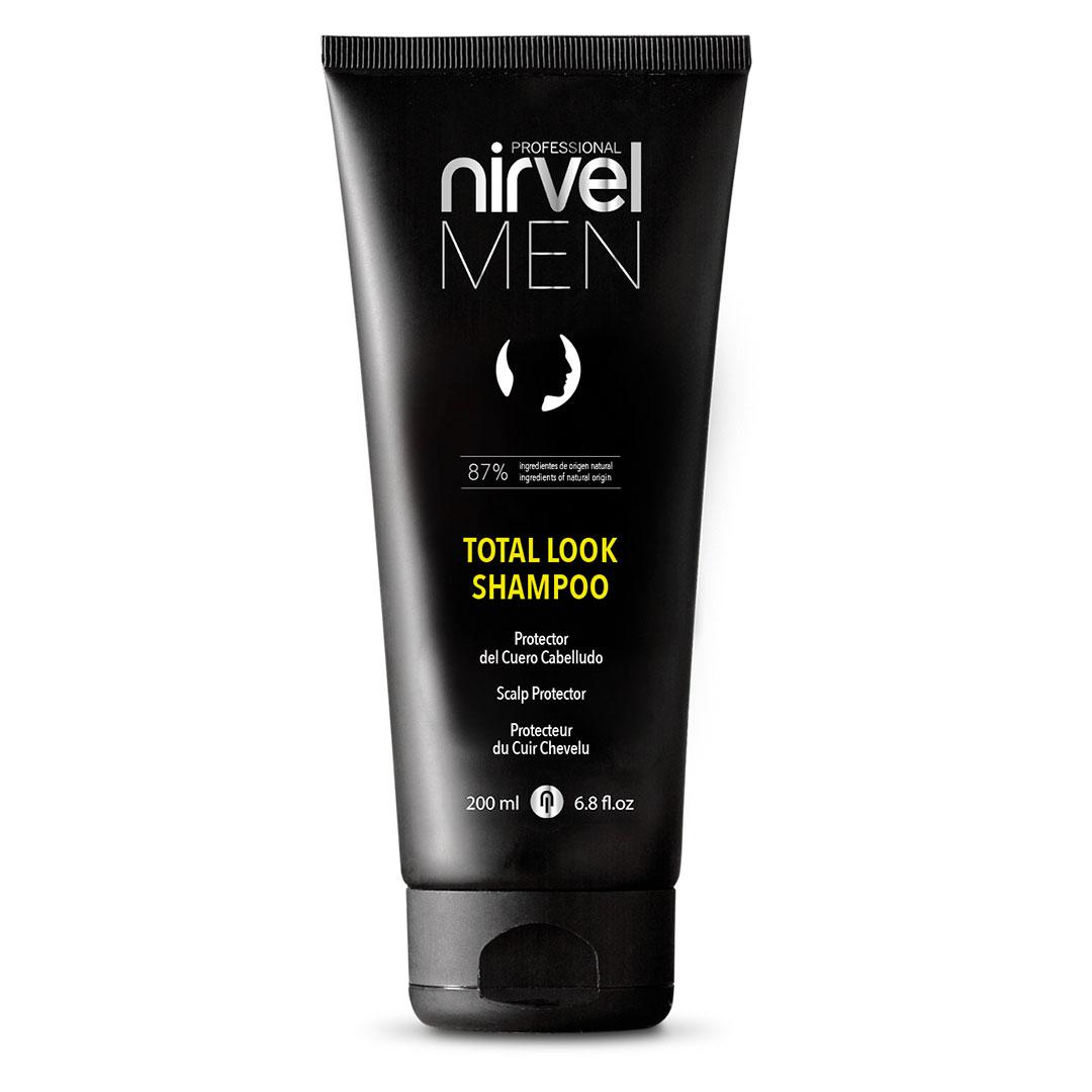 nirvel men total look champu para el cuidado del cuero cabelludo