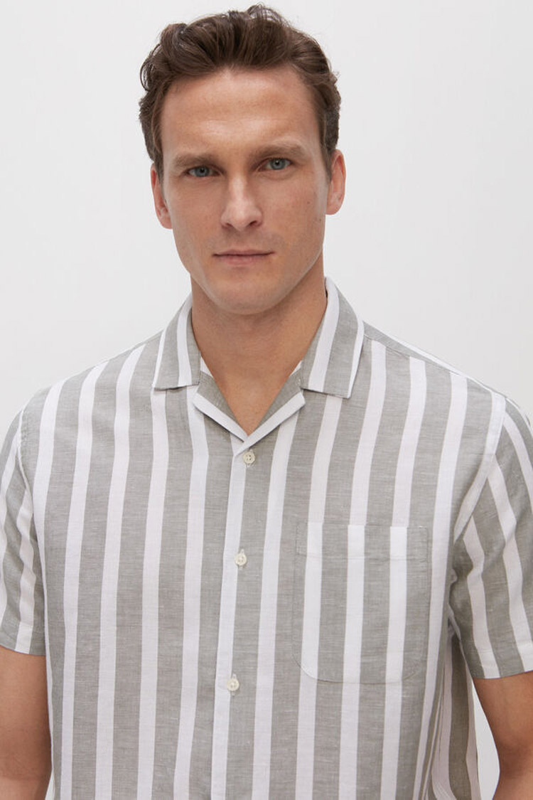 camisa-de-rayas-de-lino-para-hombre-moda-masculina-de-verano