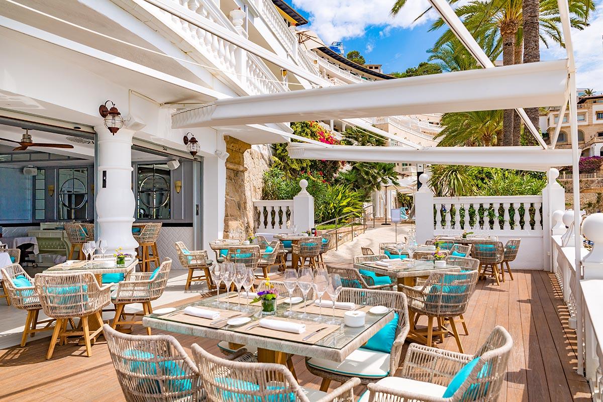 restaurante con decoracion mediterranea